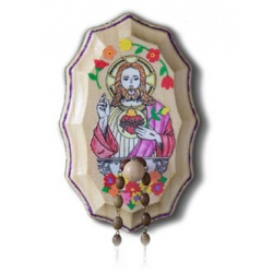 Rosary Holder Sacred Heart