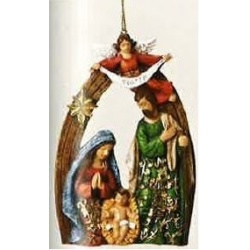 Holy Family 5.25 inch Ornament [Glory Be]