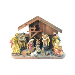Nativity set and stable 150mm