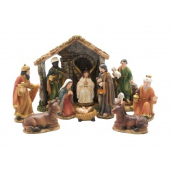 Nativity set and stable 11cm